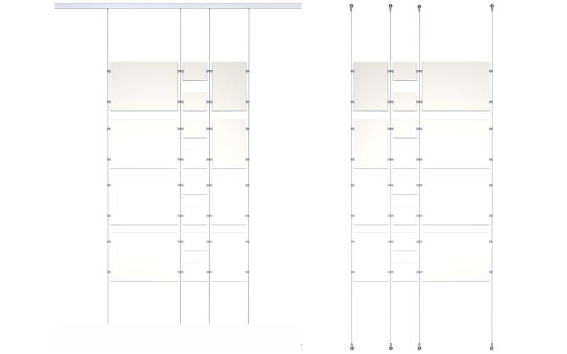Système de suspension pour plexiglass
