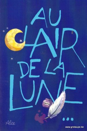 carte postale illustrée par alice nominé et éditée aux éditions gulf stream au clair de la lune