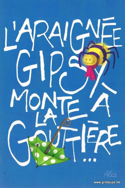 carte postale illustrée par alice nominé et éditée aux éditions gulf stream l'araignée gipsy