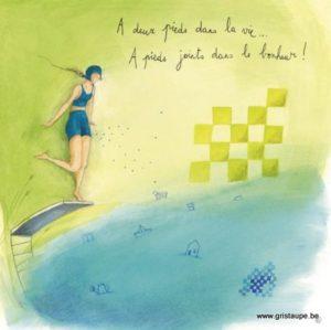 carte postale illustrée par anne sop^hie rutsaert et éditée aux éditions des correspondances à pieds joints dans le bonheur