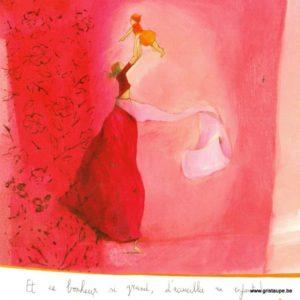 carte postale illustrée par anne sophie rutsaert et editées aux correspondances le bonheur si grand d'accueillir un enfant