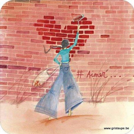 carte postale illustrée par Anne Sophi rutsaert et éditées aux éditions de correspondances #aimer