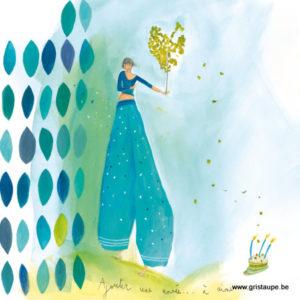 carte postale illustrée par anne sophie rutsaert et éditées aux éditions des correspondances ajouter une année à aimer
