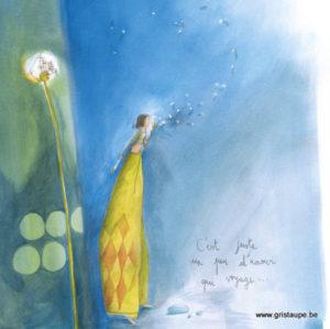 carte postale illustrée par anne sophie rutsaert et éditée aux éditions des correspondances c'est juste un peu d'amour qui voyage
