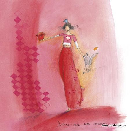 carte postale illustrée par anne sophie rutsaert et éditée aux éditions des correspondances dessine moi une maman