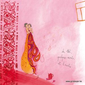 carte postale illustrée par anne sophie rutsaert et éditées aux éditions des correspondances