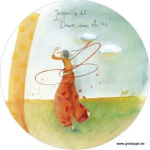 carte postale illustrée par anne sophie rutsaert et éditées aux éditions des correspondances jacques a dit danse aime et ris