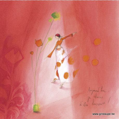carte postale illustrée par anne sophie rutsaert et éditée aux éditions des correspondances je choisis d'être heureuse