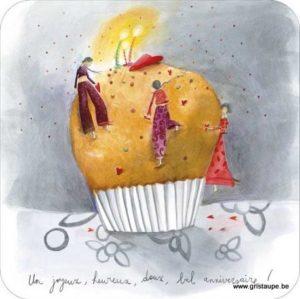 carte postale illustrée par anne sophie rutsaert et éditée aux éditions des correspondances un joyeux doux bel anniversaire