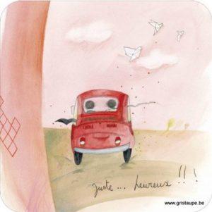 carte postale illustrée par anne sophie rutsaert et éditée aux éditions des correspondances juste...heureux
