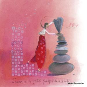 carte postale illustrée par anne sophie rutsaert et éditée aux éditions des correspondances l'amour a ce petit quelque chose d'infini