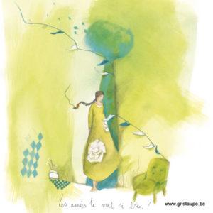 carte postale illustrée par anne sophie rutsaert et éditée aux éditions des correspondances les années te vont si bien