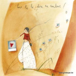 carte postale illustrée par anne sophie rutsaert et éditée aux éditions des correspondances pour te le dire en couleur