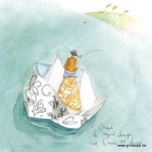 carte postale illustrée par anne sophie rutsaert et éditée aux éditions des correspondances quand le regard change