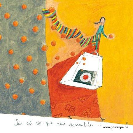 carte postale illustrée par anne sophie rutsaert et éditée aux éditions des correspondances sur cet air qui nous rassemble