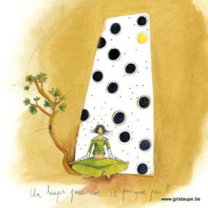 carte postale illustrée par anne sophie rutsaert et éditée aux éditions des correspondances un temps pour soi et pourquoi pas