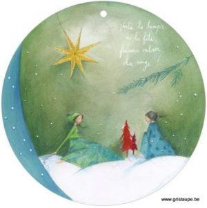 carte postale illustrée par anne sophie rutsaert et éditée aux éditions des correspondances Voilà le temps de la fête, faisons valser la neige