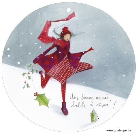 carte postale illustrée par anne sophie rutsaert et éditée aux éditions des correspondances une bonne année belle à rêver