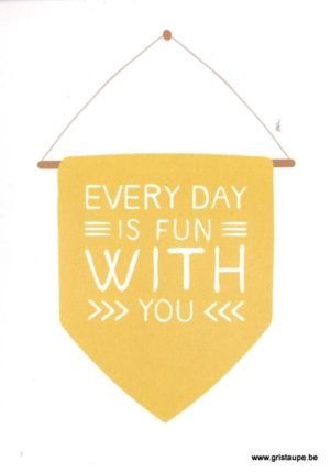 carte postale illustrée et éditée par pramax every day is fun with you