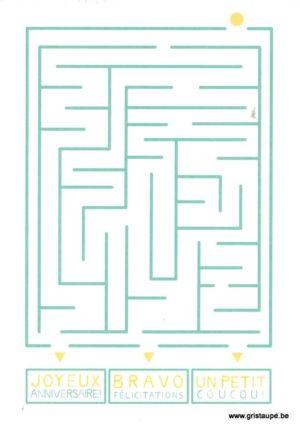 carte postale illustrée et éditée par pramax le labyrinthe