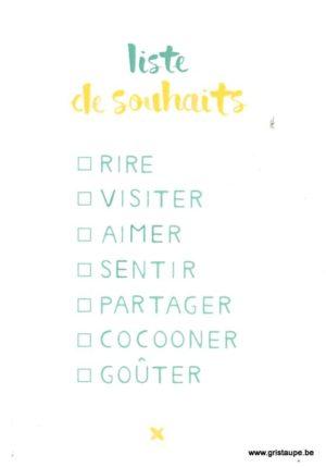 carte postale illustrée éditée par pramax liste de souhaits d'été