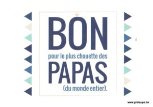 carte postale illustrée et imprimée par pramax bon papas
