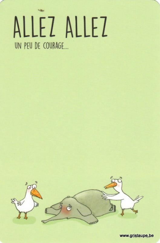 carte postale illustrée par charlotte meert et éditée au éditions de cortil un peu de courage