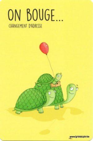 carte postale illustrée par charlotte meert et éditées aux éditions de cortil on bouge