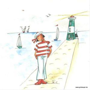 cartepostale illustrée par danila pahun et éditée par les éditions gulf stream le phare
