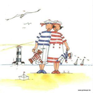 carte postale illustrée par danila pahun et éditée aux éditions gulf stream les poupées