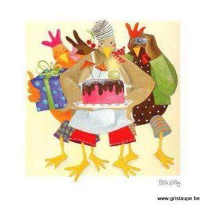 carte postale illustrée par pascaline et éditée aux éditions coté bord'eau happy birthday