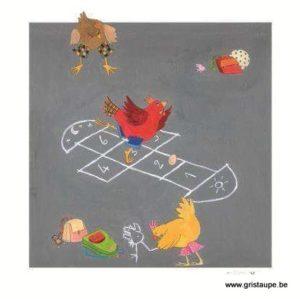 carte postale illustrée par pascaline et éditée aux éditions coté bord'eau la récré des p'tites poules