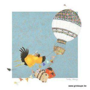 carte postale illustrée par pascaline et éditée aux éditions coté bord'eau objectif lune