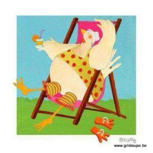carte illustrée par pascaline et éditée aux éditions coté bord'eau relax poulette