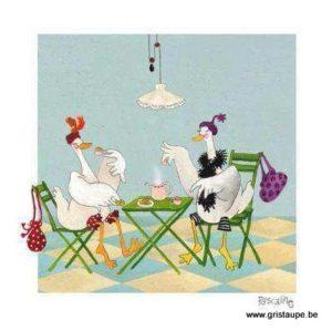 carte postale illustrée par pascaline et éditée aux éditions coté bord'eau tea time
