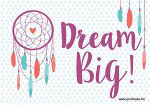carte postale illustrée et éditée aux éditions kiub dream big