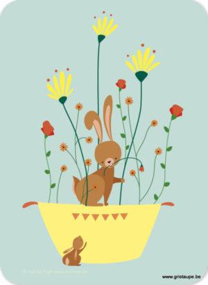 carte postale illustrée par alice de page et éditée aux éditions sur un nuage le lapin