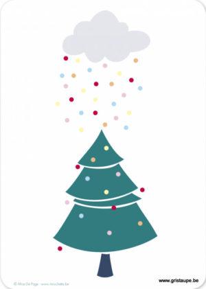 cartes postales illustrée par alice de page et éditée aux éditions sur un nuage pluie de boules