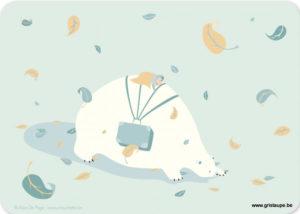 carte postale illustrée par alice de page et éditée aux éditions sur un nuage l'ours