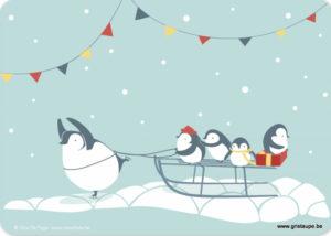 carte postale illustrée par alice de page et éditée aux éditions sur un nuage les pingouins