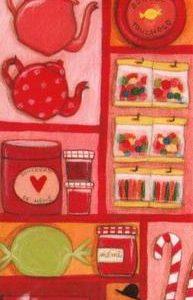marque page illustré par anne laval et édité aux éditions de mai chez mémé cerise douceurs et gourmandises