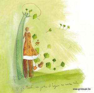 carte postale illustrée par anne sophie rutsaert et éditée aux éditions des correspondances un nouveau matin