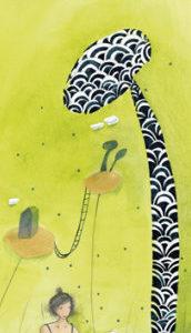 marque page illustré par anne sophie rutsaert et édité aux éditions des correspondances s'accorder le temps de rêver