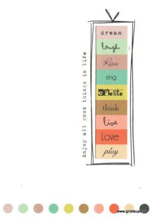 carte postale au contraire éditée aux éditions quire enjoy all good things in life