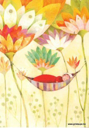 carte postale illustrée par aurélie blanz et éditée aux éditions Graetz naissance