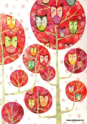 carte postale illustrée par aurélie blanz et éditée aux éditions graetz hiboux