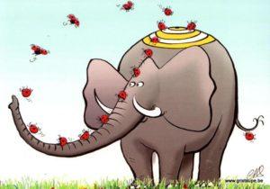 carte postale illustrée par claude henri saunier et éditée aux éditions cartes d'art bonne chance