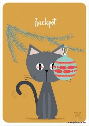 carte postales illustrée par coraline rivière et éditée aux éditions de cortil Jackpot