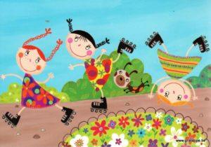 carte postale illustrée par corinne bitler et éditée aux éditions cartes d'art happy day