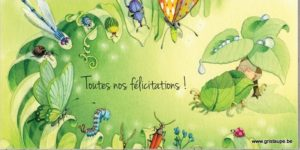carte postale illustrée par dominique mertens et éditée aux éditions de cortil toutes nos félicitations